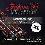 ギター用弦Fodera Electric Bass Guitar Strings, Roundwound 4-String Stainless Steel 正規輸入品