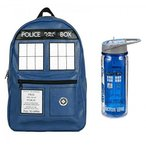 ショッピングランチボックス ランチボックス&バッグ Doctor Who Unique Backpack and Water Bottle Bundle Set 正規輸入品