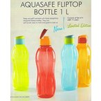 Tupperware タッパーウェア の密閉容器 Tupperware Aquasafe Flip Top Bottle 1 L each, Set of 4 正規輸入品