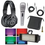 audio technica ( オーディオテクニカ )録音マイク Audio Technica ATH-M40x Professional Studio Monitor Headphones with Falcon XM4 Professional Voice