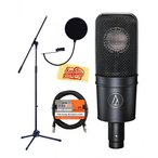 audio technica ( オーディオテクニカ )録音マイク Audio-Technica AT4040 Cardioid Condenser Microphone Bundle with Boom Stand, XLR Cable, Pop Filter,