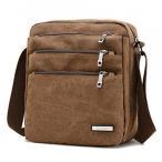 傘 Amarte Unisex Small Eco Canvas Messenger Bag Cross Body Laptop Shoulder Bag 正規輸入品