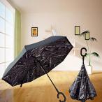 傘 Xjamus colorful Waterproof Reverse Folding Double Layer Inverted Umbrellas with C-shaped Handle and Auto-close function (Blackpaper) 正規輸入品