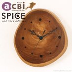 ショッピングアジアン アジアン家具 時計 壁掛け かけ時計 チーク無垢 木製 インテリア おしゃれ デザイン アクビィ AZT001-1