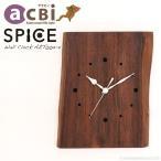 アジアン家具時計壁掛けかけ時計チーク無垢木製インテリアおしゃれデザインアクビィAZT002-2