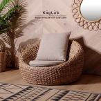アジアン家具 エスニック ローソファー 椅子 チェア 1人掛け ウォーターヒヤシンス C619ATZ