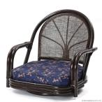 和風 座いす 低い椅子 チェア 籐 ラタン 回転 肘掛付き おしゃれ 木製 ロータイプ レトロ アジアン C710CBE1