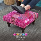 オットマン スツール フットチェアー ピンク パッチワーク 北欧 カフェ クラシック ON&ON DLR070PK