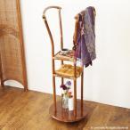 アジアン家具 ハンガーラック コートハンガー キャスター 籐 木製 和風 K33HR