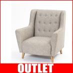 北欧家具 1人掛け ソファー おしゃれ 椅子 パーソナルチェア 一人用 カフェ meubles zago fjord L-D131GY
