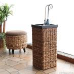 アジアン家具傘立てアンブレラスタンドおしゃれ木製スリムバナナリーフアバカバリ家具R404AT