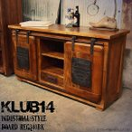 KLUB14 インダストリアル 収納サイドボード REG340BK