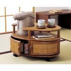 和風 ポットワゴン リビングワゴン キッチンワゴン サイドテーブル 籐 ラタン 収納 アジアン T036HR