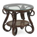 サイドテーブル ナイトテーブル 机 ガラス 籐 ラタン 木製 おしゃれ アジアン カフェ T210CB