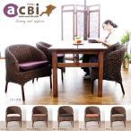 アジアン家具 ダイニングテーブルセット 4人用 5点 アクビィ ウォーターヒヤシンス 北欧 T41D390P
