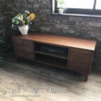アジアン家具 テレビ台 テレビボード ローボード おしゃれ チーク無垢木製  幅140cm W664KA