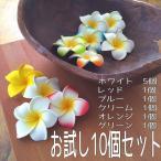 アジアン雑貨 バリ 造花 アートフラワー フェイクフラワー プルメリア フランジパニ お試し10個セット Z010203M