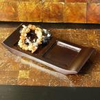 アジアン エスニック アジアン雑貨 木製プレート 2つ置 デコレーショントレイ アクセサリー 小物入れ  台座 バリ雑貨