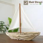 アジアン雑貨ボート木製オブジェZ070832G