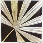 アジアン雑貨バリ木製レリーフオブジェ壁掛けファンパームシルバーz090201a