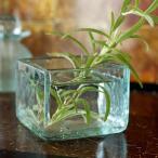 アジアン雑貨バリガラスお香入れ 小物入れ 花器 アンティーク調 バリ雑貨