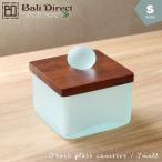 アジアン雑貨バリ小物入れガラスキャニスターコットンケースSサイズz140201b