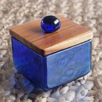 アジアン雑貨バリガラスケースコットンケースクリアガラスキャニスターSサイズZ140401L