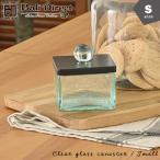 チークのフタ付ガラスケースクリアブラックSサイズアンティーク調ガラスキャニスターコットンケースz220102a