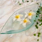 アジアン雑貨バリ小物入れお皿ガラス製プレートボート型インテリアトレイエスニックz260102a