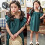 ショッピング子供服 韓国子供服 女の子 通販 ブラウス チュニック フリル 無地 おしゃれ キッズ 可愛い 子ども服 お出かけ 30代 40代 ママ 女性 レディース
