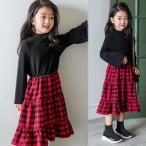 ショッピング子供服 韓国子供服 女の子 通販 ワンピース 長袖 チェック おしゃれ キッズ 可愛い 子ども服 お出かけ 30代 40代 ママ 女性 レディース