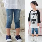 ショッピング子供服 韓国子供服 女の子 通販 デニムパンツ ジーンズ ダメージ おしゃれ キッズ 可愛い 子ども服 お出かけ 30代 40代 ママ 女性 レディース