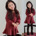 ショッピング子供服 韓国子供服 女の子 通販 ワンピース チェック 長袖 おしゃれ キッズ 可愛い 子ども服 お出かけ 30代 40代 ママ 女性 レディース