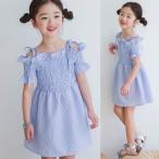 ショッピング子供服 子供服 女の子 通販 ワンピース レディース オフショルダー 半袖 韓国 おしゃれ キッズ 可愛い 子ども服 お出かけ