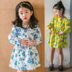 ショッピング子供服 韓国子供服 女の子 通販 ワンピース 長袖 花柄 おしゃれ キッズ 可愛い 子ども服 お出かけ 30代 40代 ママ 女性 レディース