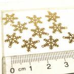 雪の結晶 ゴールド  シルバー  10個1セット アクセサリーパーツ