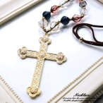 ロザリオ 紐ネックレス クロス 十字架