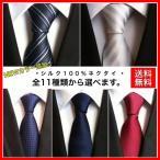 ネクタイ シルク100% レギュラータイ高級 無地  ストライプ メンズ ビジネス カジュアル フォーマル 全9種類 通勤 就活 紳士 スーツ 大人気 父の日 EveAXIA