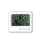 温湿度計 デジタル おしゃれ 温度計 湿度計 高精度 温湿度計付き 時計 正確 室外 室内 壁掛け 卓上 アラーム カレンダー