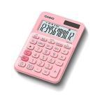カシオ MW-C20C-PK-N ペールピンク カラフル電卓 12桁 ミニジャストタイプ