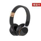 ◆3ヶ月保証付き◆ ヘッドホン イヤホン ワイヤレス Bluetooth 5.0 密閉型 マイク 折りたたみ 有線 無線 ブラック×ゴールド