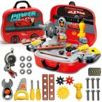 カーズ 男の子のおもちゃ 知育玩具 おままごと 大工さん なりきりセット 収納BOX付き 大工セット