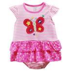 ショッピングカバーオール Carter's 半袖 ワンピース風 ロンパース 女の子 3M 9M 60 70 ショートオール