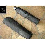 BURBERRY バーバリー 紳士専用折り畳み傘 人気のブラック