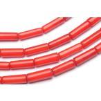 レッドコーラル(赤珊瑚) チューブ 3x9mm 1連(約38cm)_R1956-3/A8-2 5,000円以上で送料無料