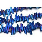 クリスタル 氷柱カット(中) ブルーコーティング 1連(約38cm)_R5460-6 ★5000円以上ネコポス送料無料!