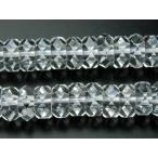 「水晶ボタンカット」 3x6mm 1連(約38cm)_R890 ★5000円以上ネコポス送料無料!