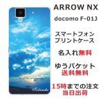 アローズNX F01J ケース ARROWS NX F-01J カバー 送料無料 名入れ かわいい スカイ-2