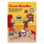 サンリオ キャラクターズ クリアファイル (70sお部屋)670332-6