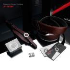 ショッピングストラップ GARIZ/ゲリズ Italian Leather with Alcantara カメラネックストラップ+カメラグリップ+専用プレートセット AT-NFABR ブラウン